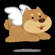 天使の犬のイラスト